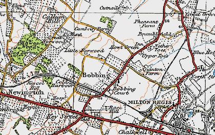 Old map of Bobbing in 1921