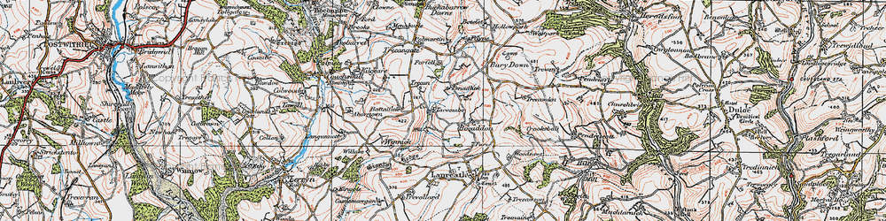 Old map of Winnick in 1919