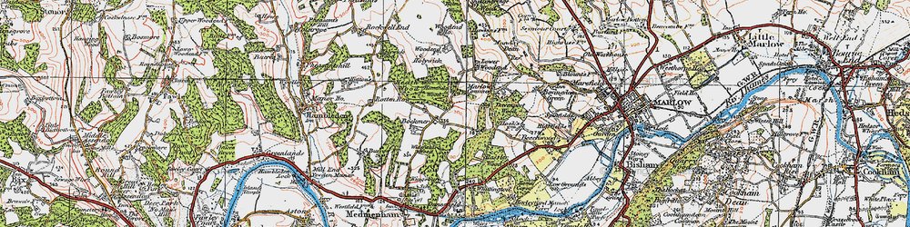 Old map of Widefield Wood in 1919