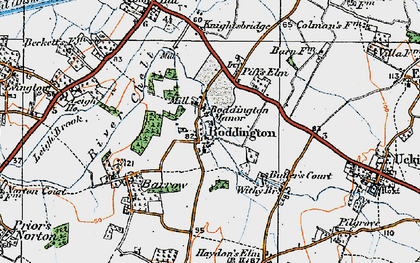 Old map of Boddington in 1919