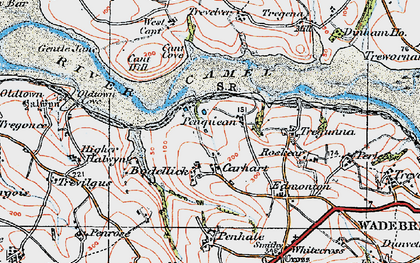 Old map of Bodellick in 1919