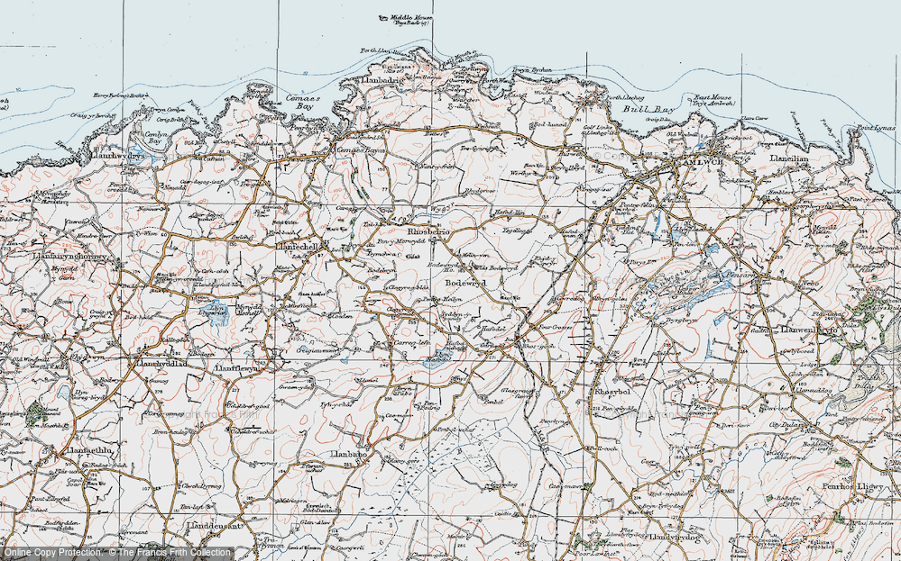 Old Map of Historic Map covering Afon Wygyr in 1922