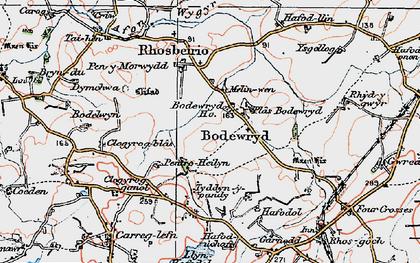 Old map of Afon Wygyr in 1922