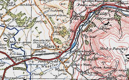 Old map of Bodfari in 1922