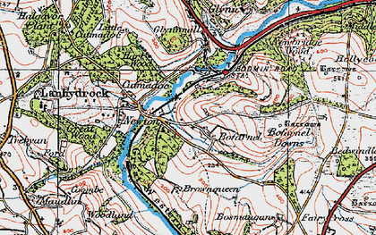 Old map of Bofarnel in 1919