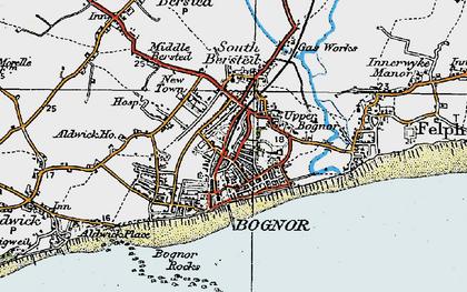 Old map of Bognor Regis in 1920