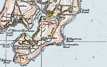Old map of Bohortha in 1919