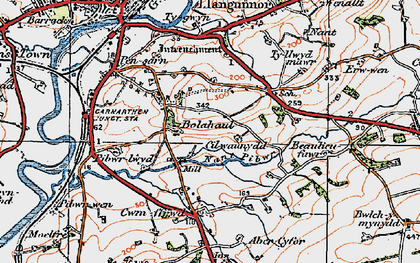 Old map of Bolahaul Fm in 1923