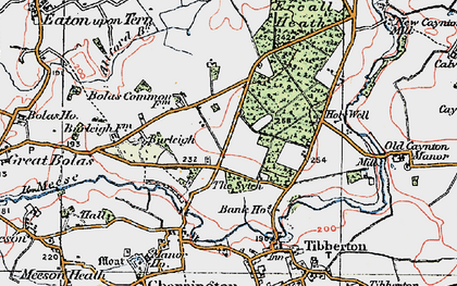Old map of Allford Brook in 1921