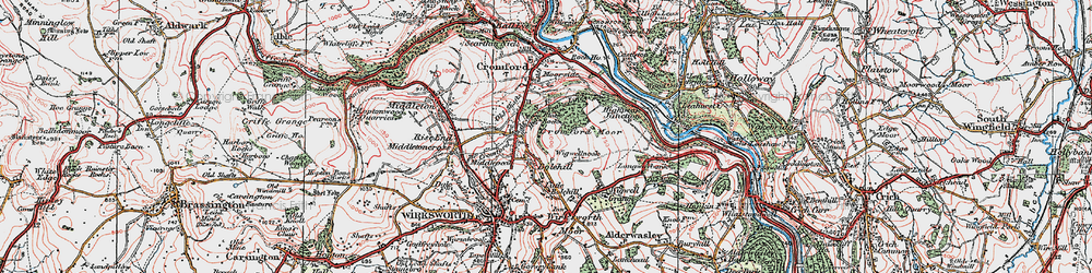 Old map of Wigwellnook in 1923