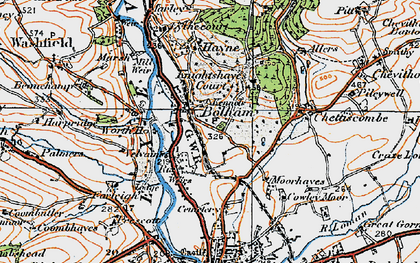 Old map of Worth Ho in 1919