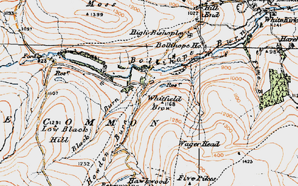 Old map of Whitfield Brow in 1925