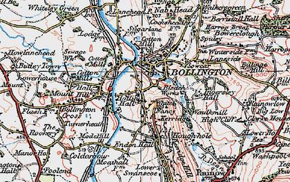 Old map of White Nancy in 1923