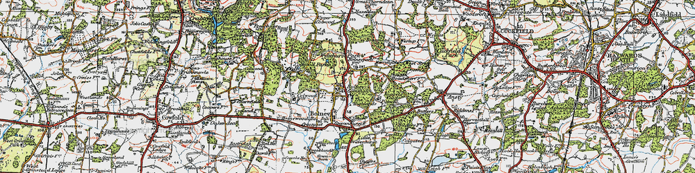 Old map of Wykehurst Park in 1920