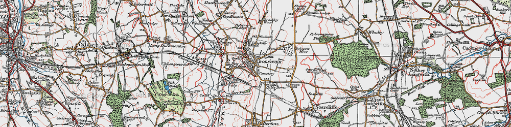 Old map of Bolsover in 1923