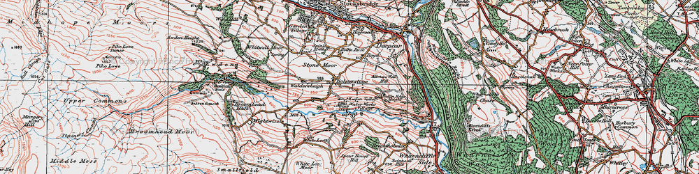 Old map of Bolsterstone in 1924