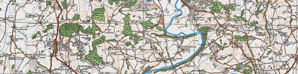 Old map of Witherstone in 1919