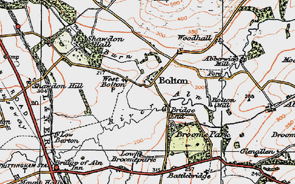 Old map of Broome Park in 1925