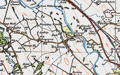Old map of Westley Bank Cotts in 1925