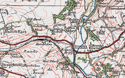 Old map of Westy Bank Wood in 1925