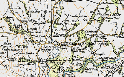 Old map of Admiral's Wood in 1924