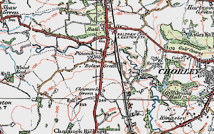 Old map of Bolton Green in 1924