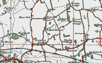 Old map of Bolton Houses in 1924