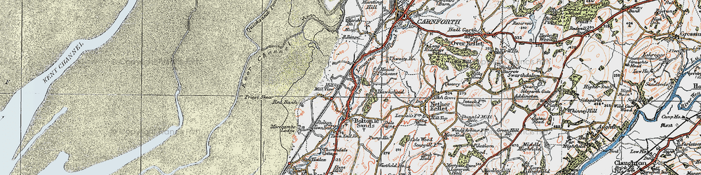 Old map of Wild Duck Hall in 1924