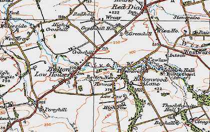 Old map of Wreay, The in 1925