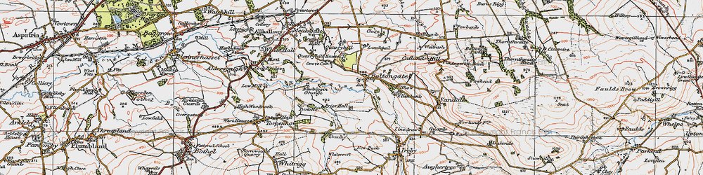 Old map of Boltongate in 1925