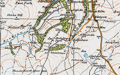 Old map of Whitelees in 1925