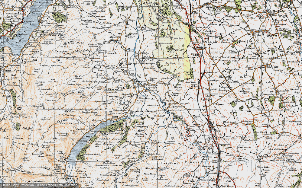 Old Map of Historic Map covering Toathmain in 1925