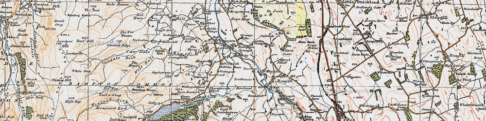 Old map of Toathmain in 1925