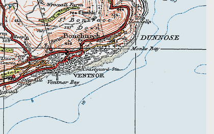 Old map of Monks Bay in 1919