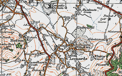 Old map of Bondend in 1919