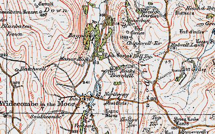 Old map of Bagpark in 1919