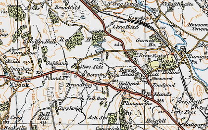 Old map of Tolson Hall in 1925
