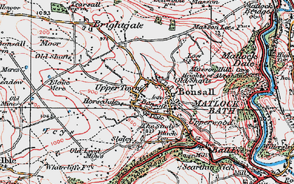 Old map of Bonsall in 1923