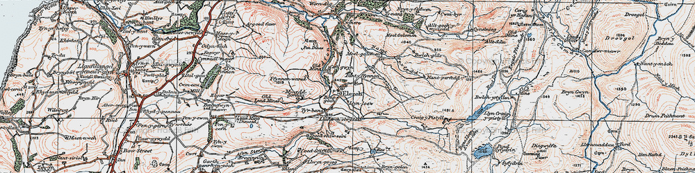 Old map of Alltgochymynydd in 1922