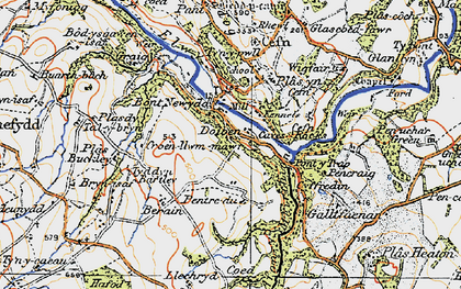 Old map of Graig in 1922