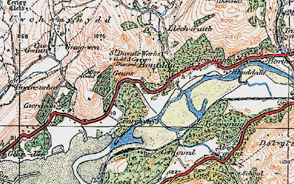 Old map of Abergwynant in 1922