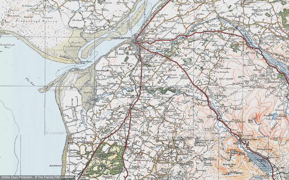 Old Map of Bontnewydd, 1922 in 1922