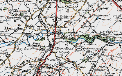 Old map of Bontnewydd in 1922