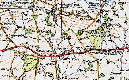 Old map of Bonvilston in 1922