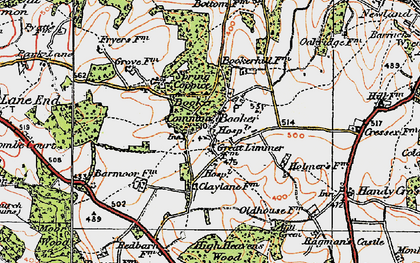Old map of Wycombe Air Park in 1919