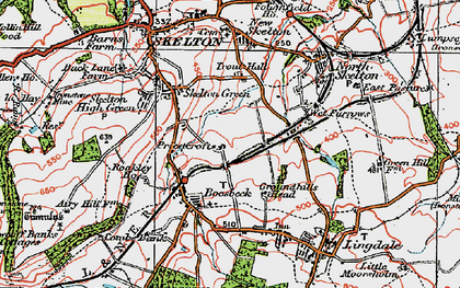 Old map of Boosbeck in 1925