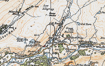 Old map of Whincop in 1925