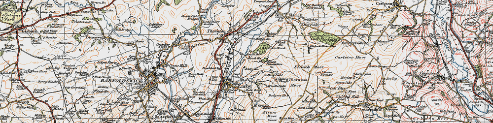 Old map of Windle Field in 1925