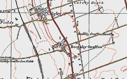 Old map of Boothby Graffoe in 1923