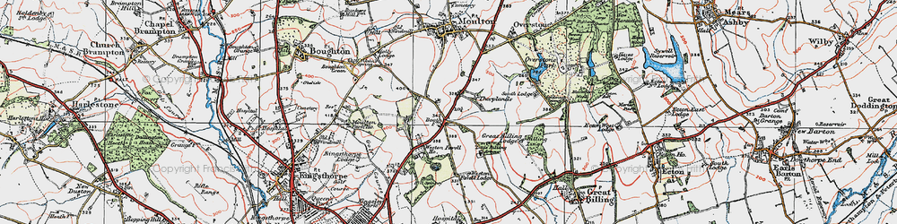 Old map of Boothville in 1919